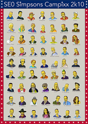 Simpsons-Poster der deutschen Seos