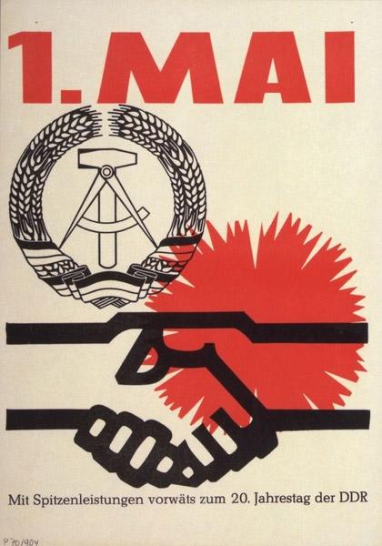 1. Mai Plakat (20. Jahrestag, DDR)