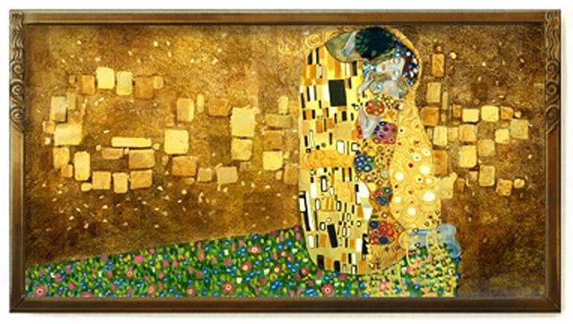 Für Gustav Klimt zum 150. Geburtstag: Der Kuss als Google Doodle