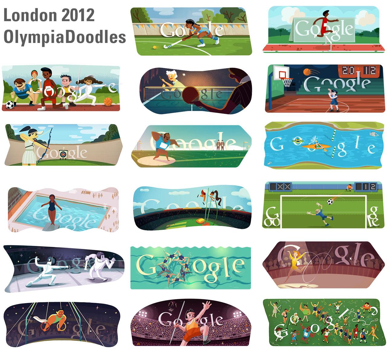 London 2012 schlussfeier – alle olympia doodles im überblick