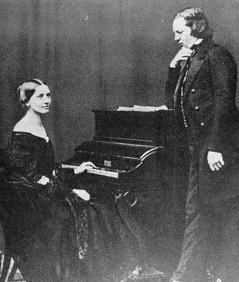 Clara Schumann und Robert Schumann