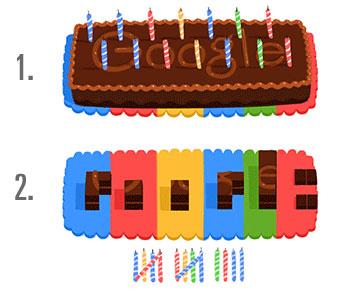 Google wird 14! Das Doodle mit dem Schokoladen-Kuchen