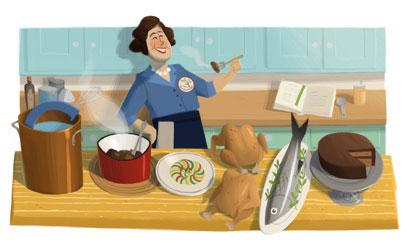 Julia Child (Google Doodle)