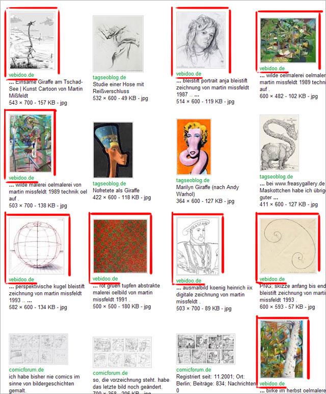 Site-Abfrage nach fremdbenutzten Bildern