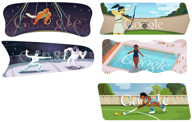 Sport Doodles - Tolles Formen-Konzept