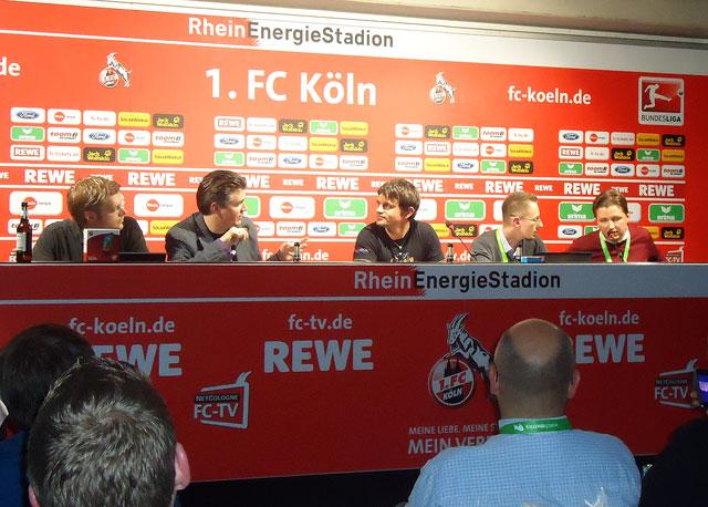 Seo Altstar-Panel (v.l. Johannes Beus, Jens Fauldraht, Marcus Tandler, Marcus Tober, Dominik Wojcik)