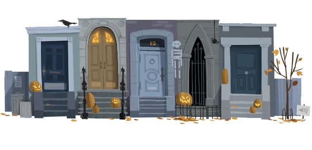 Halloween 2012 Doodle - vor dem Anklicken
