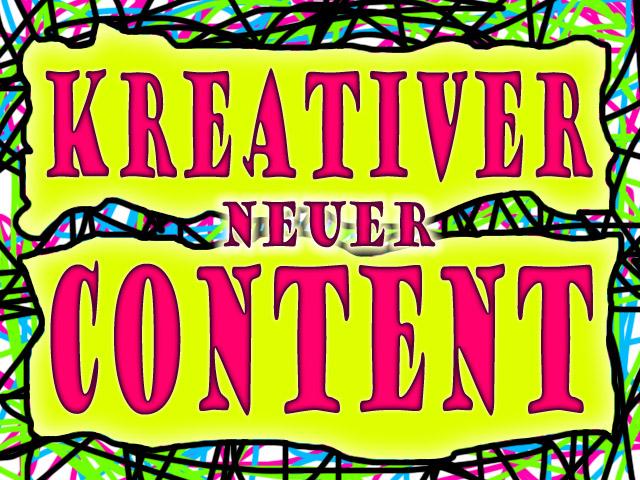 Kreativer Content - In die Breite und dann in die Tiefe ...
