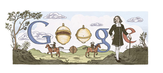 Otto von Guerike Doodle (zum 410. Geburtstag)