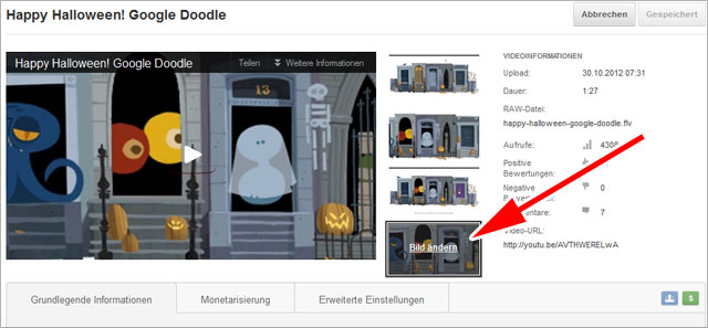 youTube-Partner Option: eigenes Preview-Bild hochladen