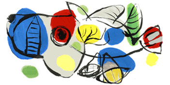 Karel Appel Doodle (25. April 2011)
