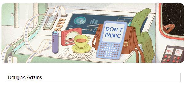 Douglas Adams Doodle (11.03.2013)
