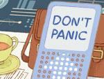 Douglas Adams Doodle: Don't Panic!