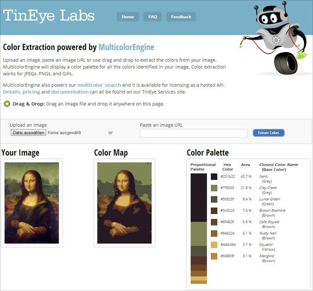 Farben finden - Beispiel Mona Lisa