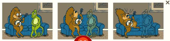 Eichhörnchen und Chamäleon