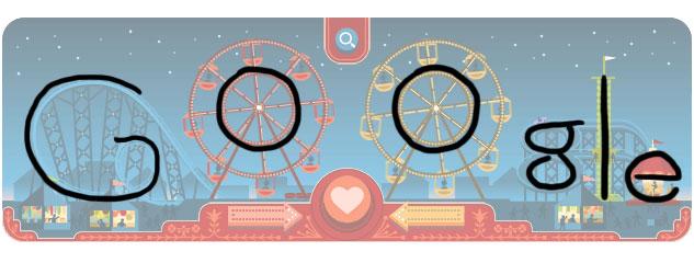 Georg Ferris Doodle: Google Schriftzug