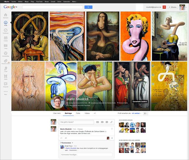 Überraschendes Update bei Google+ Profilseiten
