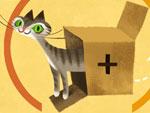Schrödingers Katze im Doodle