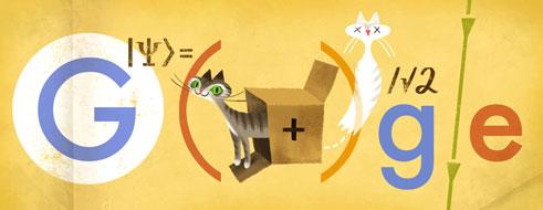 Erwin Schrödinger Doodle - Katzen Content!