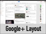 Neues Google + Layout