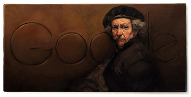 Rembrandt van Rijn - Google Doodle (15. Juli 2013)