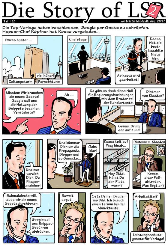 Comic Leistungsschutzrecht