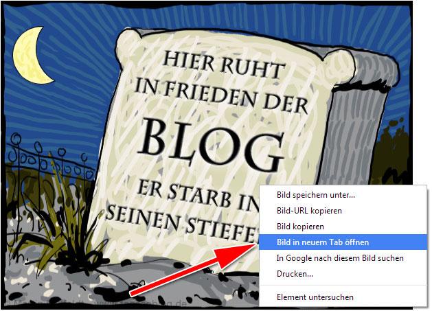 Browser-Feature: Bild ohne Inhalt in neuem Tab öffnen.