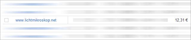 Lichtmikroskop.net: Einnahmen durch Adsense-Banner im Footer