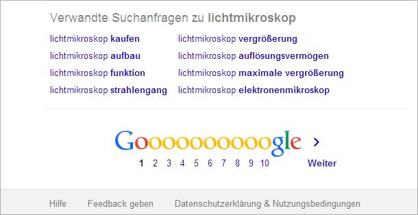 Verwandte Suchanfragen - das sieht Google in einem inhaltlichen Kontext