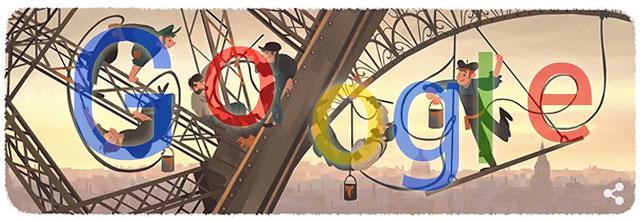 Eiffelturm Google Doodle