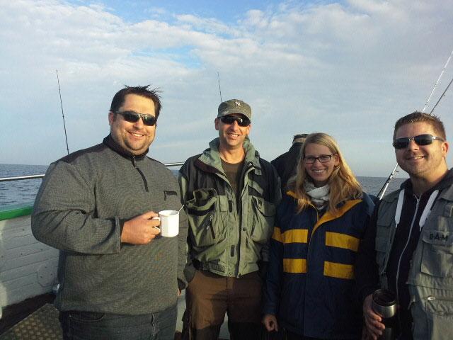 Hochseeangeln- und Online-Experten: Florian, Stefan, Nicole und Chris
