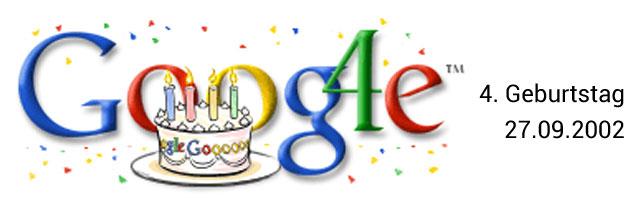Google Geburtstag - Doodle 4