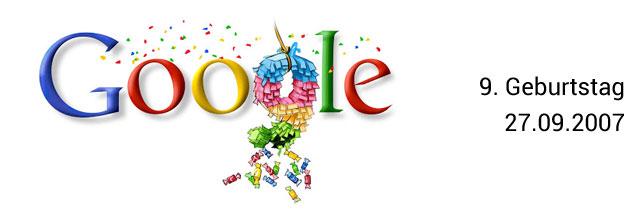 Google Geburtstag Doodle 09