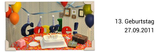 Google Geburtstag Doodle 13