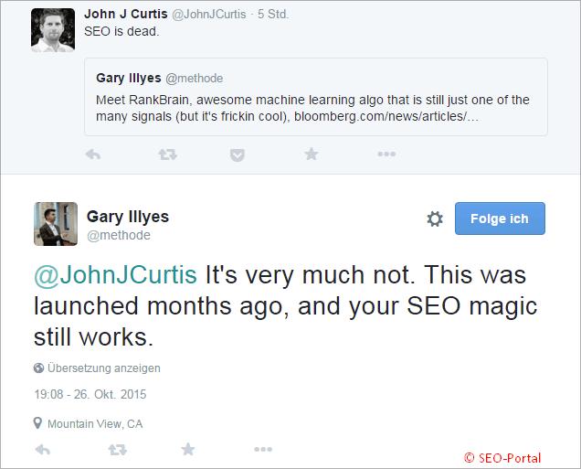 Gary Illes Tweet zum RankBrain