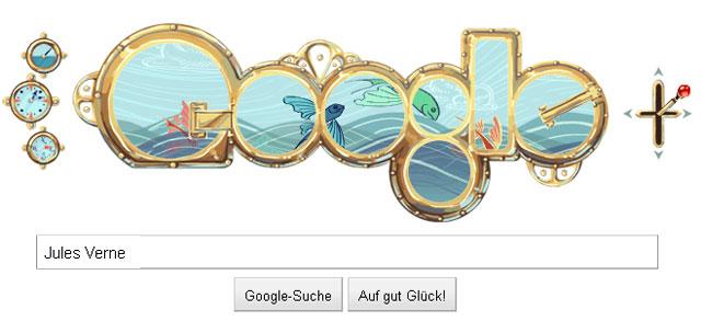 Interaktives Jules Verne Google Doodle