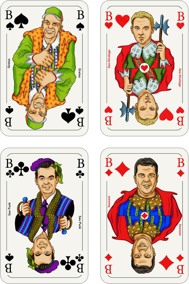 Seo-Kartenspiel: Buben