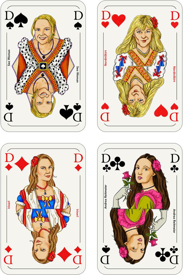 Seo-Kartenspiel: Damen