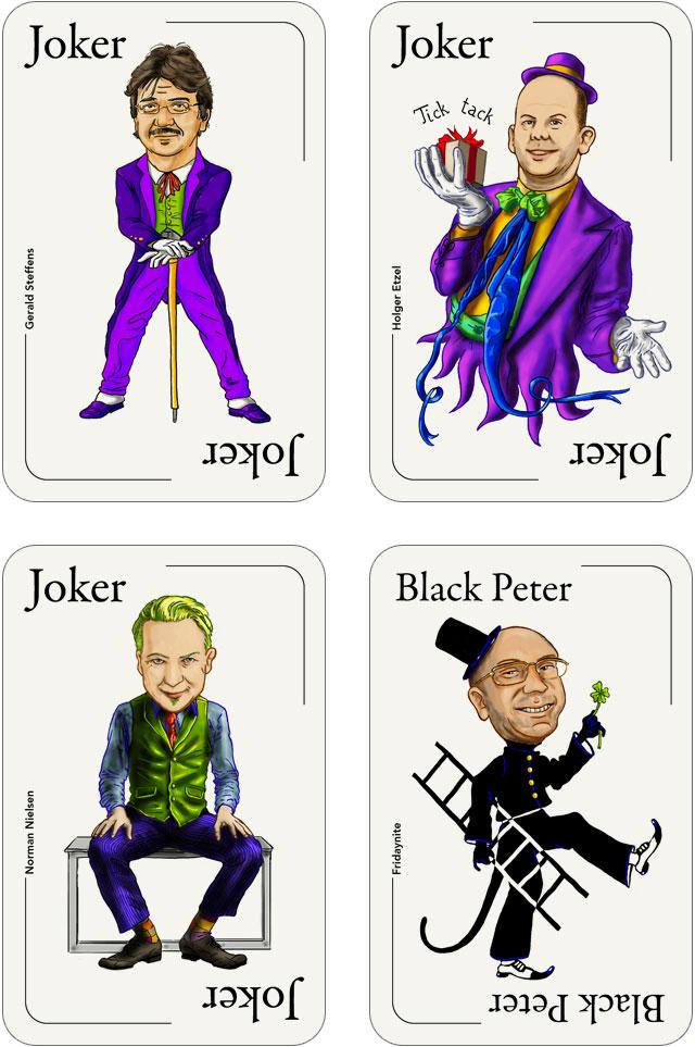 Seo-Kartenspiel: Joker und der Schwarze Peter