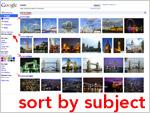 Google Bildersuche sortieren