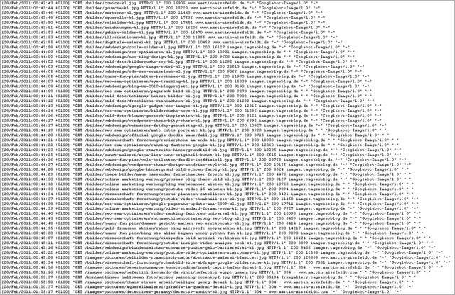 Logfile-Muster