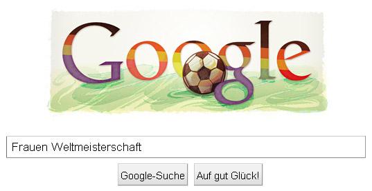 Frauen Weltmeisterschaft 2011 - ausgewaschenes Google Doodle