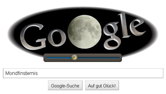 Google Doodle zur Mondfinsternis Juni 2011