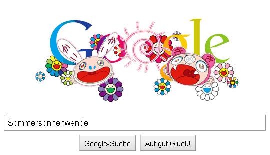 Takashi Murakami Google Doodle