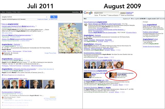 Universal-Search Vergleich: 2011 - 2009