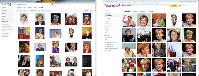 Yahoo-Bildersuche und bing-Bildersuche im Vergleich