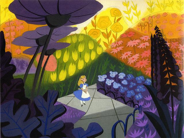 """Bildhintergrund von Mary Blair aus """"Alice im Wunderland"""""""