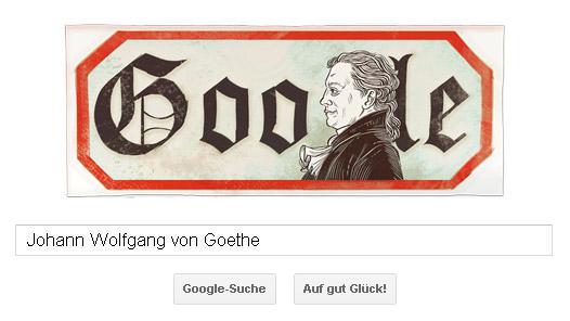 Goethe Doodle (28.08.2011)