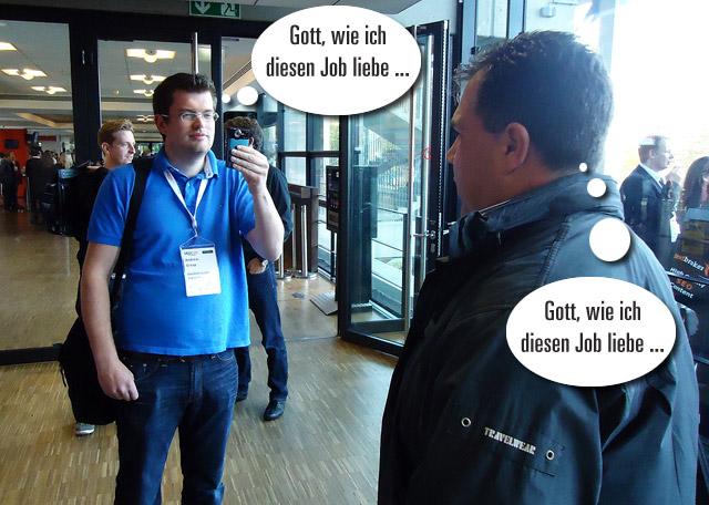 Andreas und Marco beim Interview: Gott...