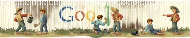 Mark Twain Google Doodle